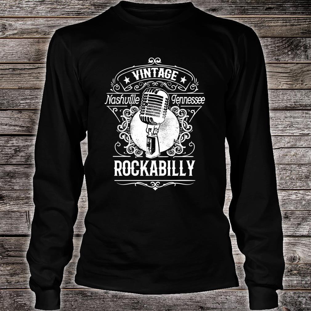 Rockabilly Greaser Vintage Nashville Retro Tennessee Shirt long sleeved
