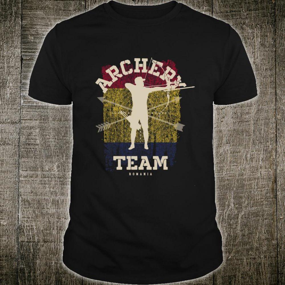 Romania Archery Team Sports Romanian Flag Bow Arrow Shirt
