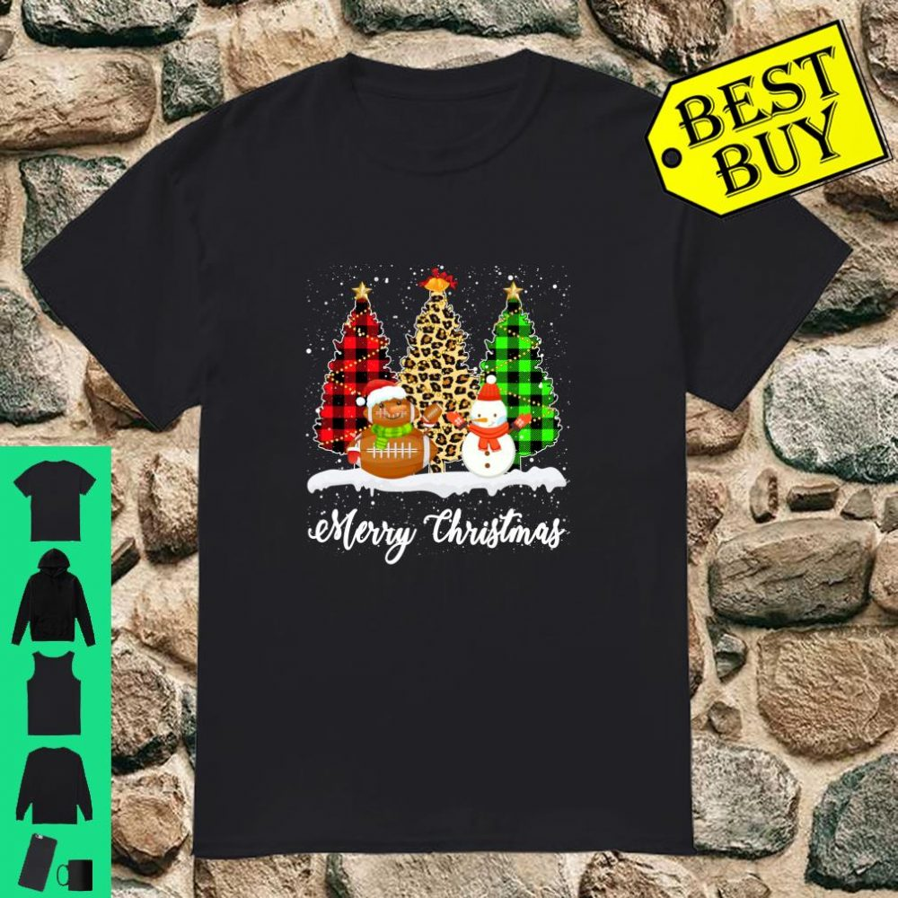 Rugby Snowman Christmas Tree Leopard Buffalo Plaid Gifts shirt