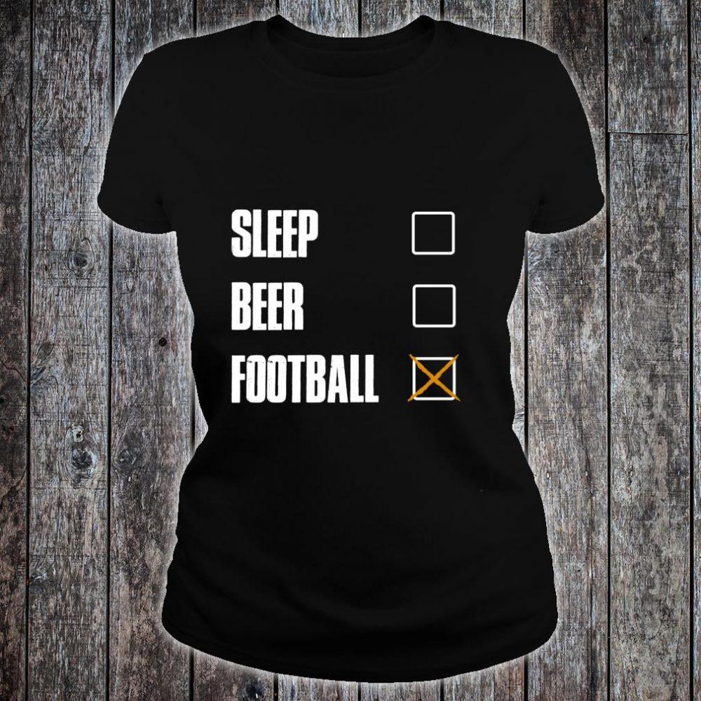 SLEEP BEER FOOTBALL AWESOME AND Shirt ladies tee