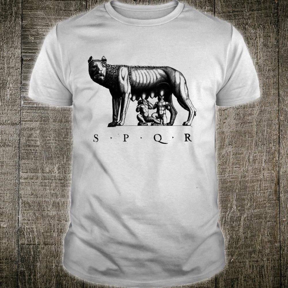 SPQR Roman Rome wolf Romulus Remus Shirt