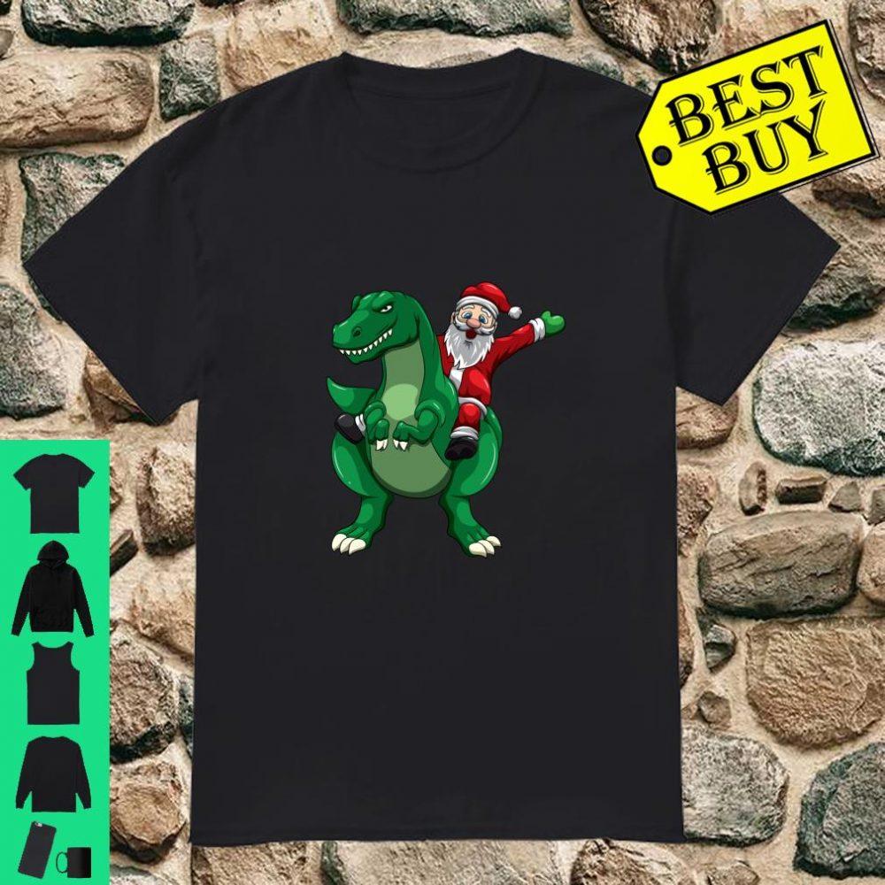 Santa Claus T rex Christmas Dinosaur Xmas Boys Gifts shirt