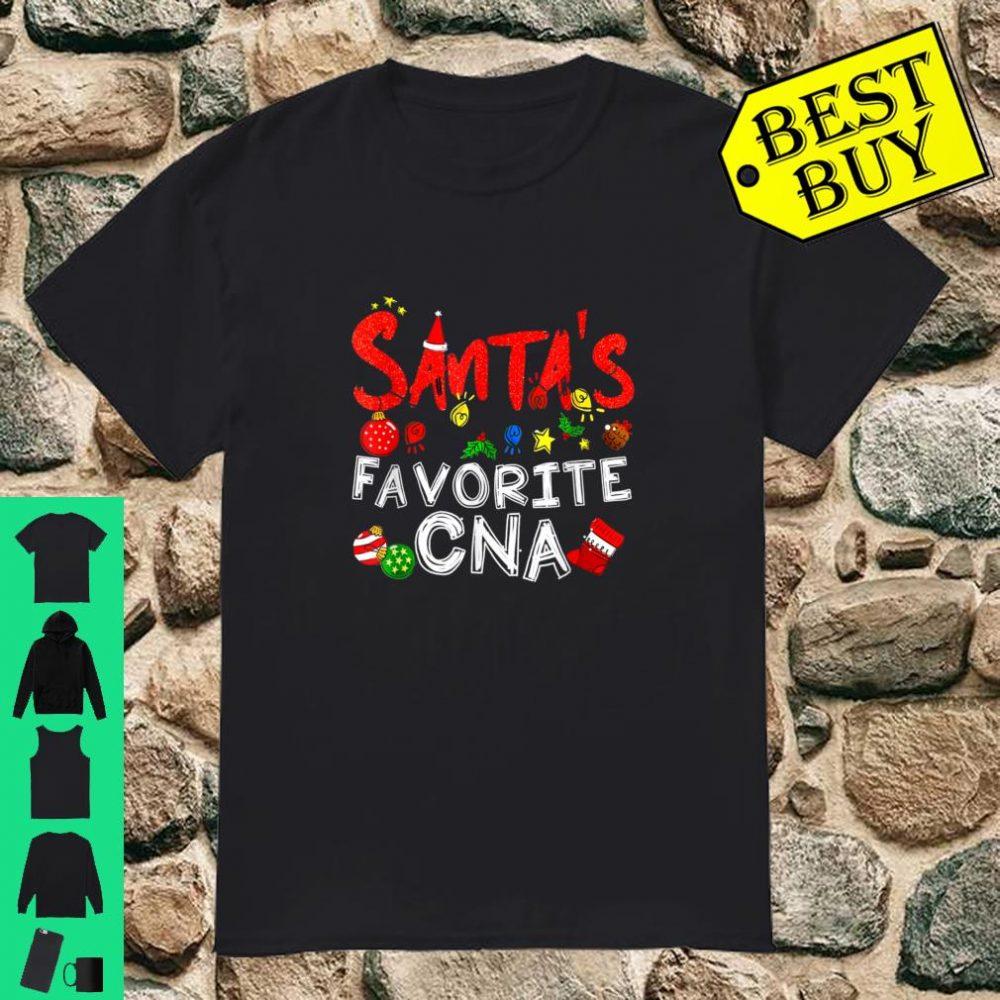Santa's Favorite CNA Christmas Gift Shirt