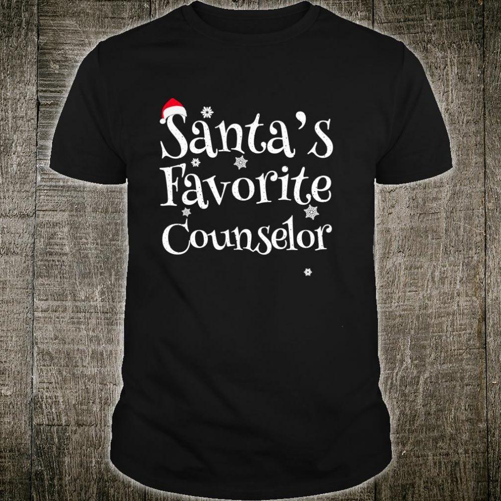 Santa's Favorite Counselor Perfect Christmas Shirt