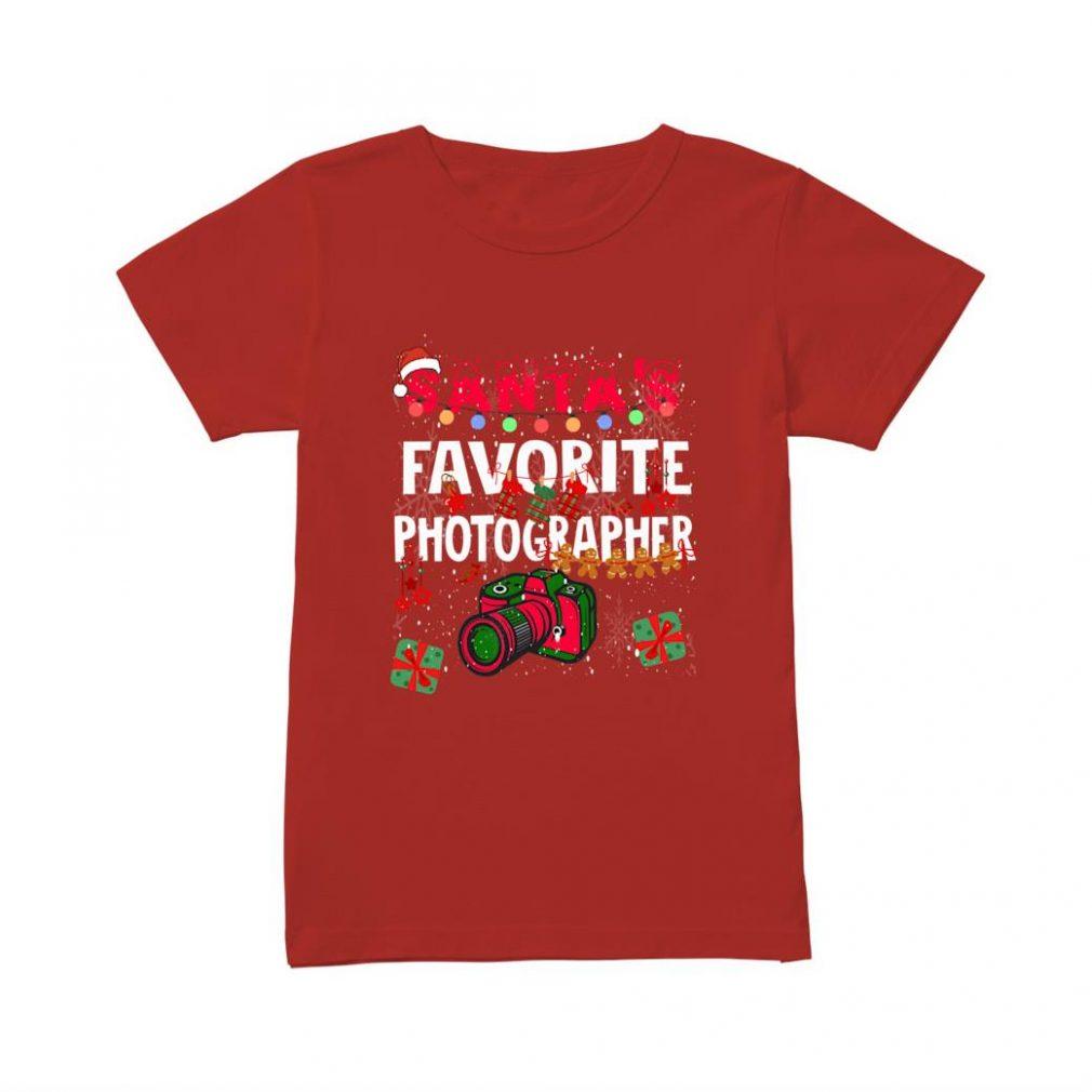 Santa's Favorite Photographer shirt ladies tee