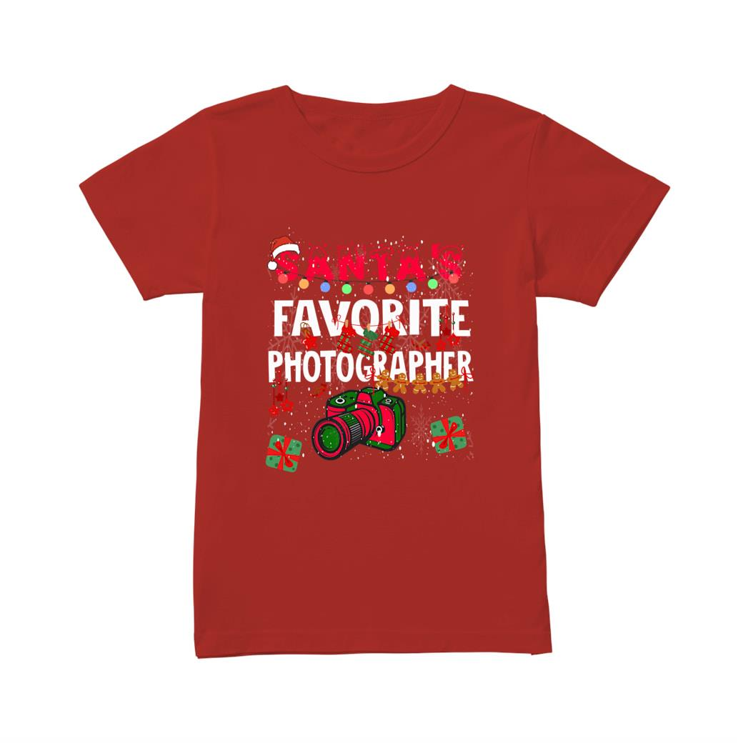 Santa's Favorite Photographer shirt ladies tee