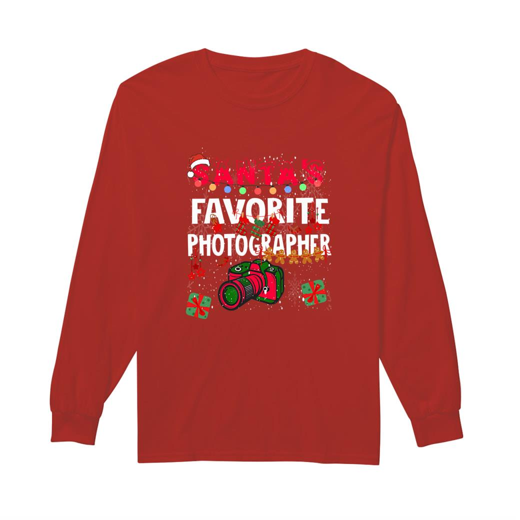 Santa's Favorite Photographer shirt long sleeved