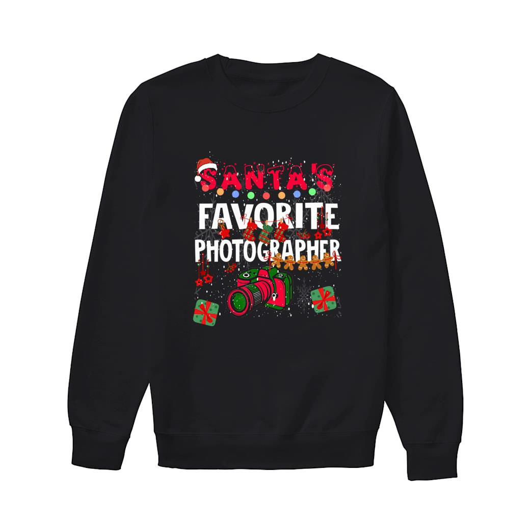 Santa's Favorite Photographer shirt sweater
