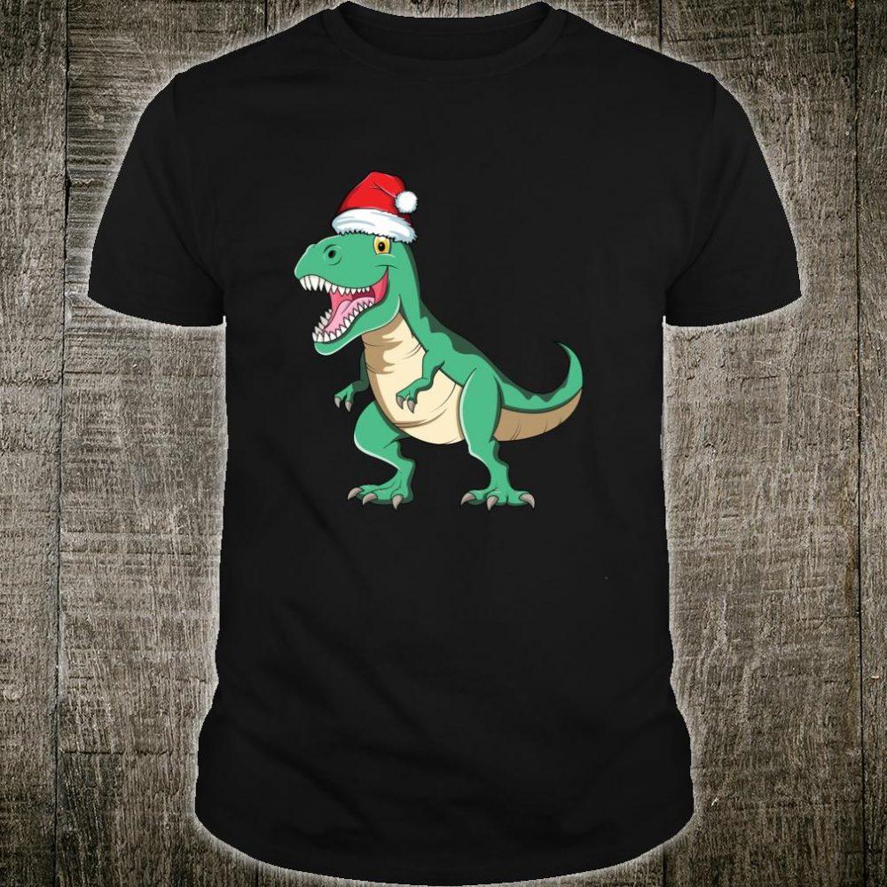 Santasaurus Rex TRex Christmas Pajamas Dinosaur Boys Shirt