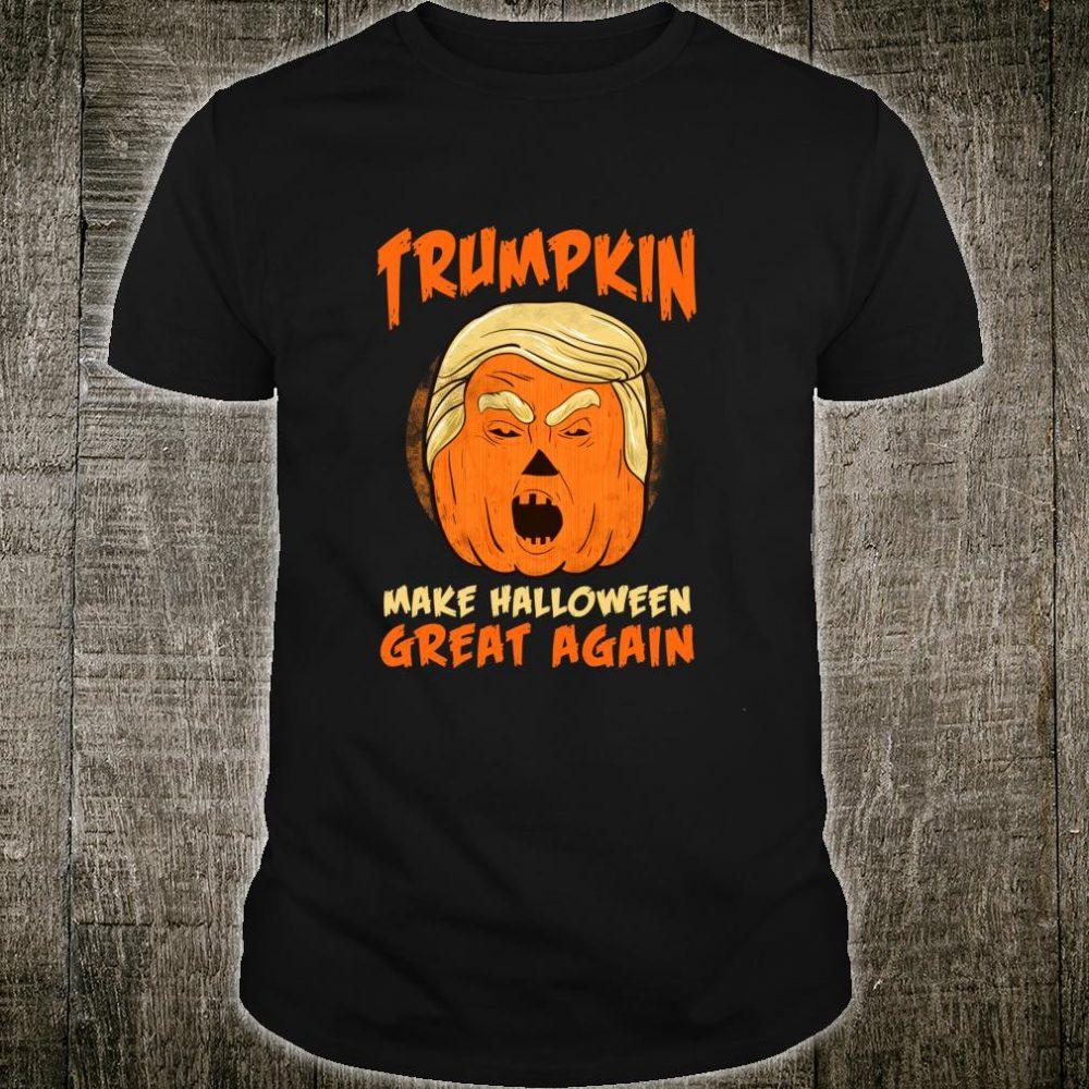 Scary HALLOWEEN Art Trumpkin Make Halloween Great Shirt