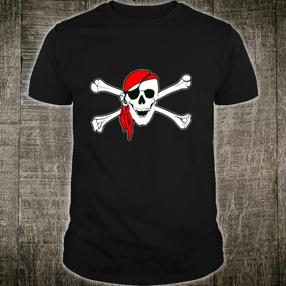Scary Skull and Crossbones Piratenflagge Shirt