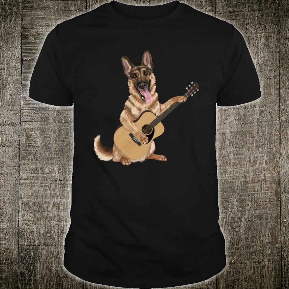 Schäferhund, der die Akustikgitarre spielt Shirt