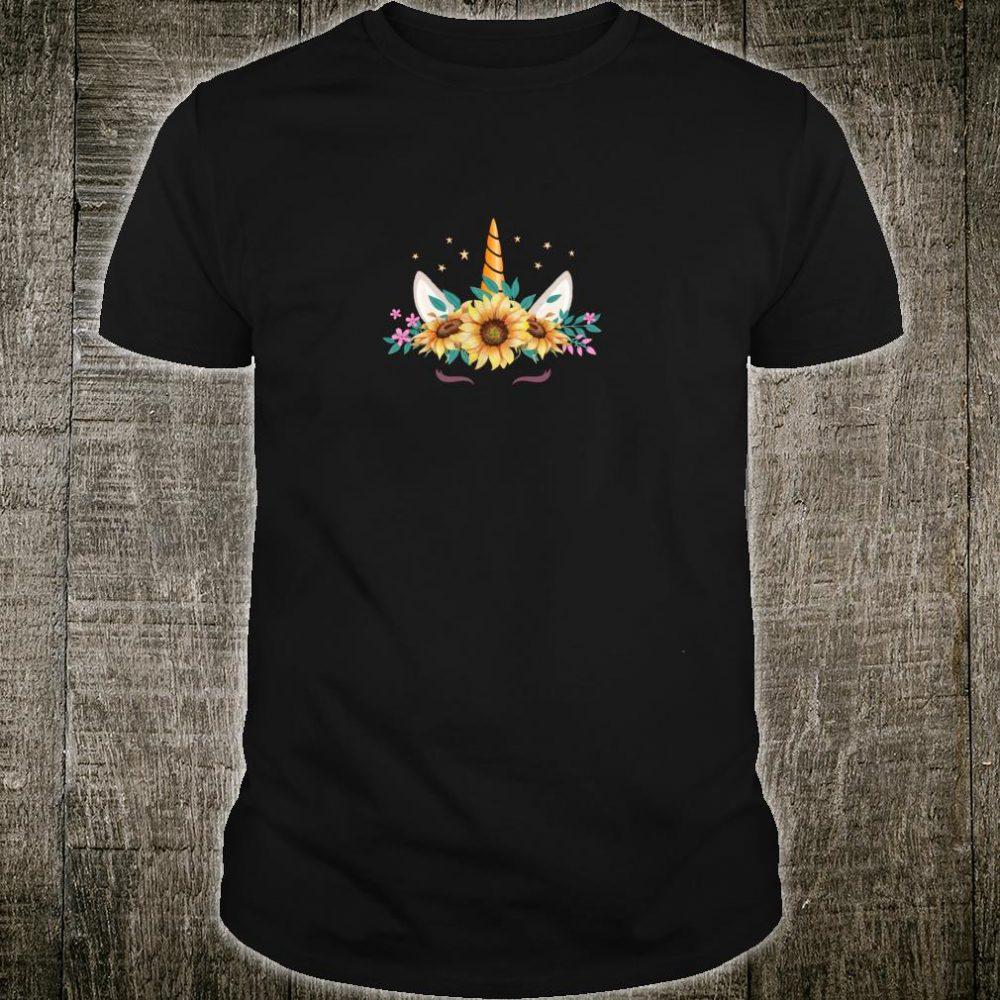Schönes Einhorn Shirt Einhörner Unicorn Flower Sonnenblumen Shirt