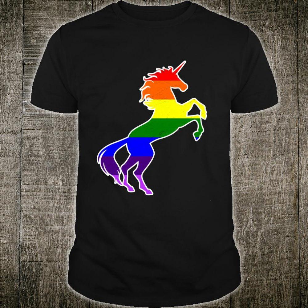 Schwules Einhorn LGBTRegenbogenfahne Stolz Bi Gleichheit Shirt