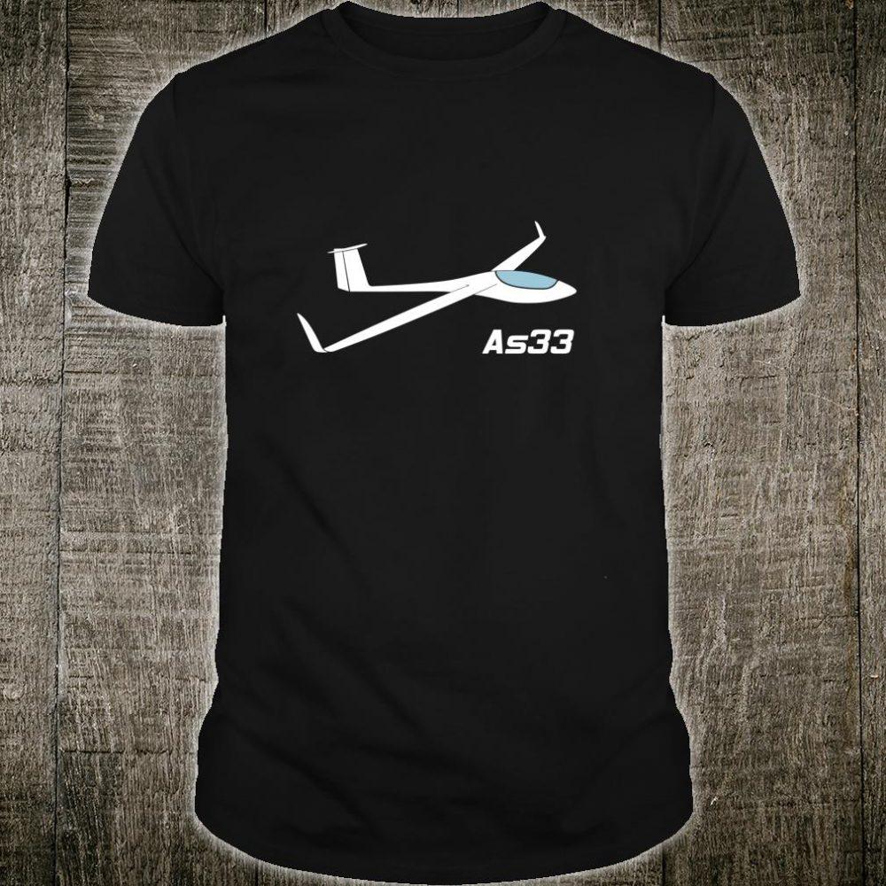 Segelflugzeug AS33 Segelfliegen Segelflieger Pilot Thermik Langarm Shirt