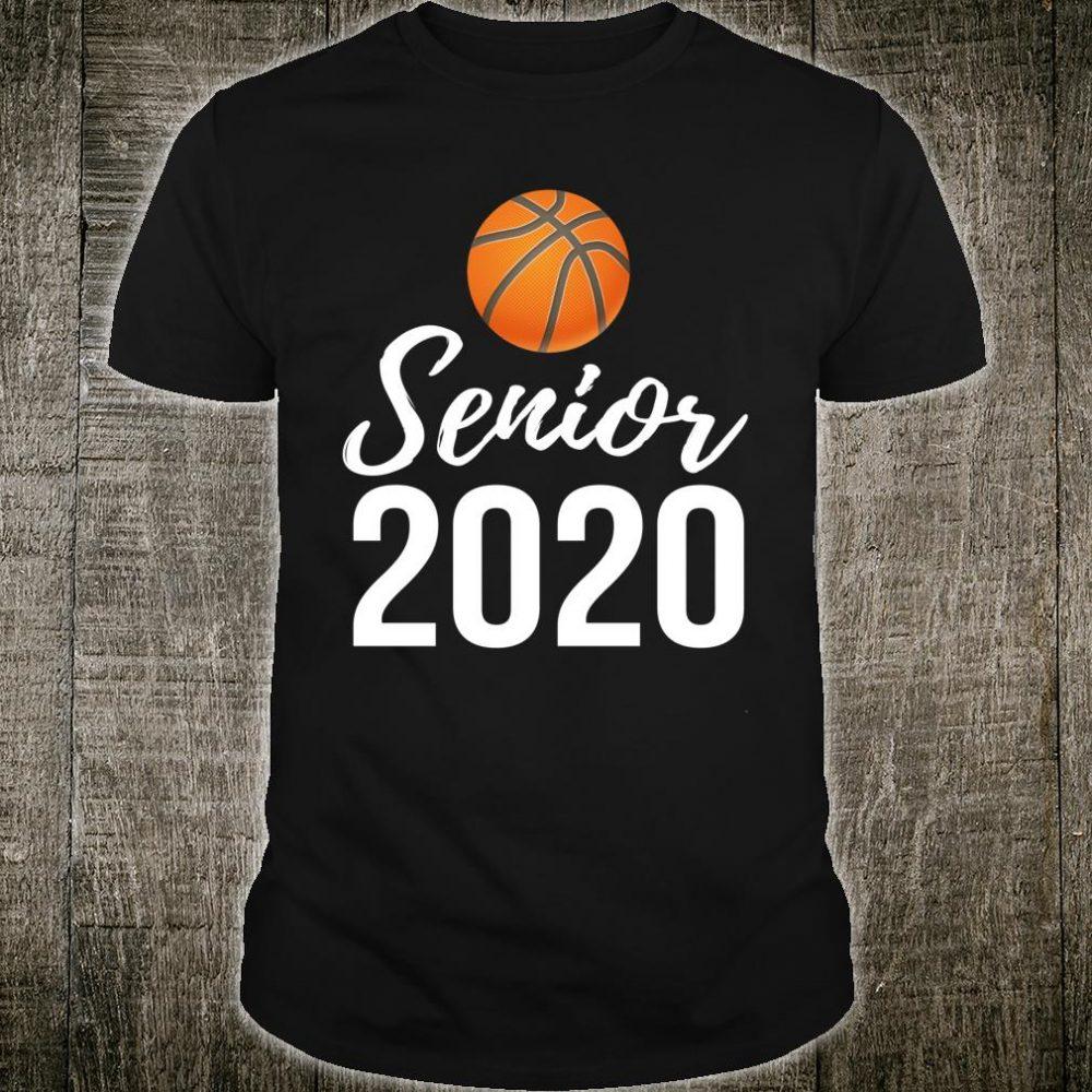 Senior Night Basketball Player Class of 2020 Graduation Shirt
