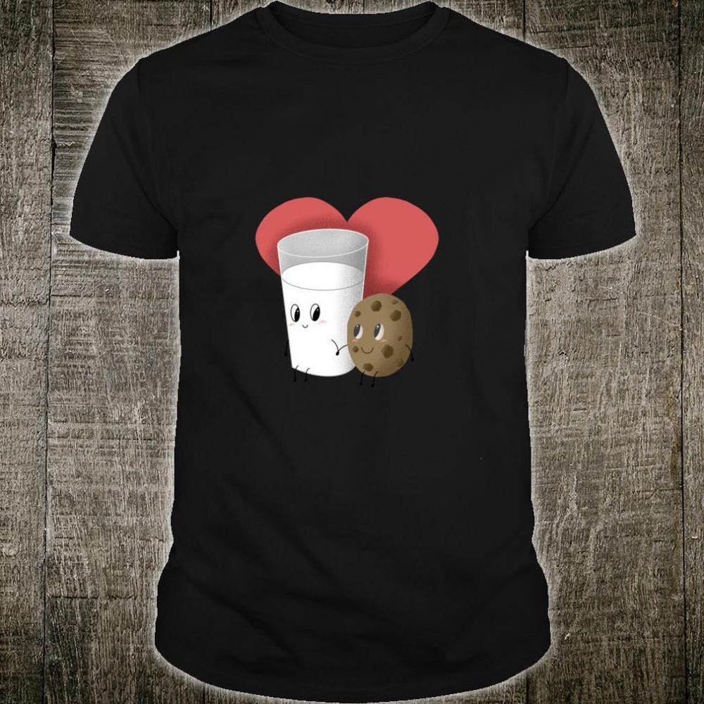 Süßes Beziehungs Milch Und Kekse Liebe Geschenk Weihnachten Shirt