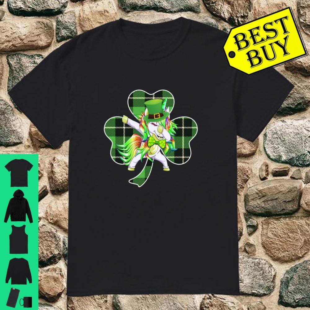 Shamrock Leprechaun Dabbing Unicorn St Patrick's day Shirt