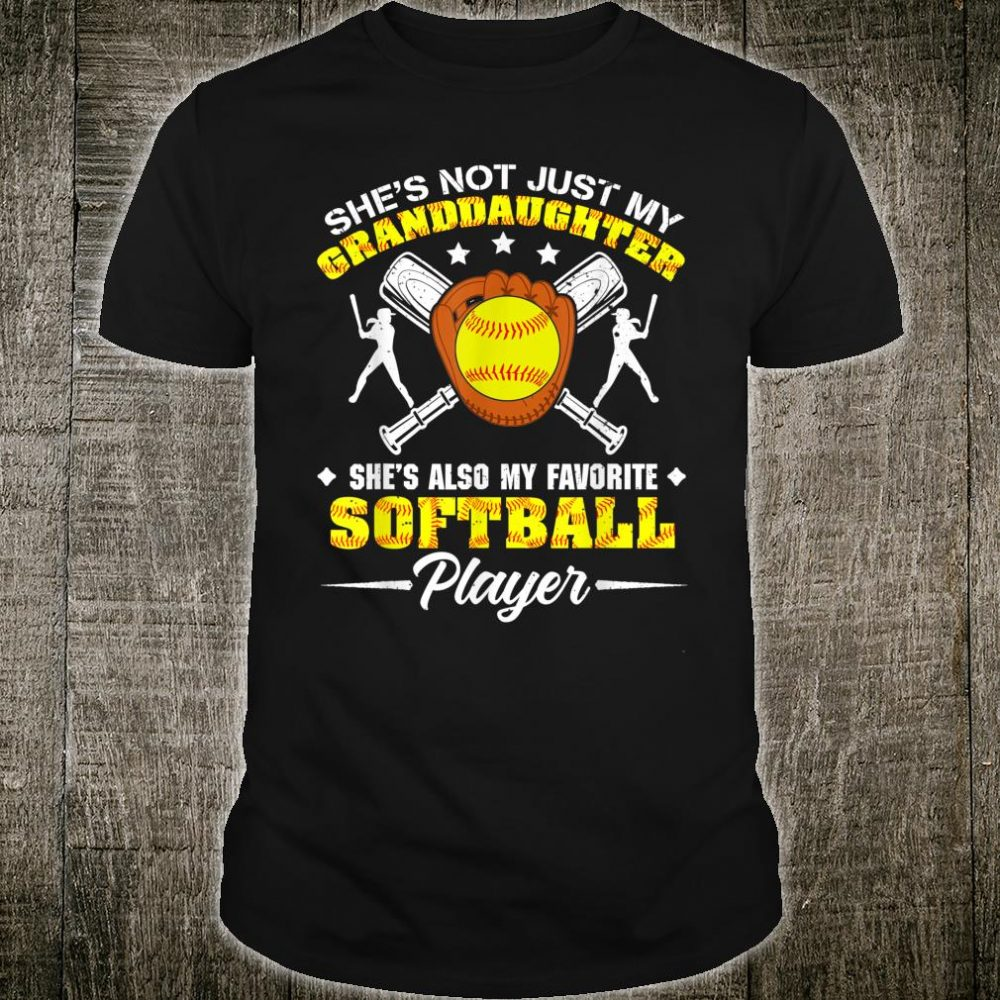 She's My Also My Favorite Softball Player Mother's Day Shirt