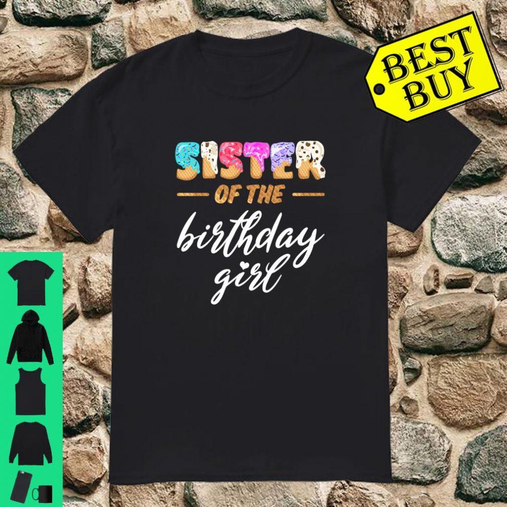 Sister Of The Birthday Girl Family Waffle Birthday Shirt