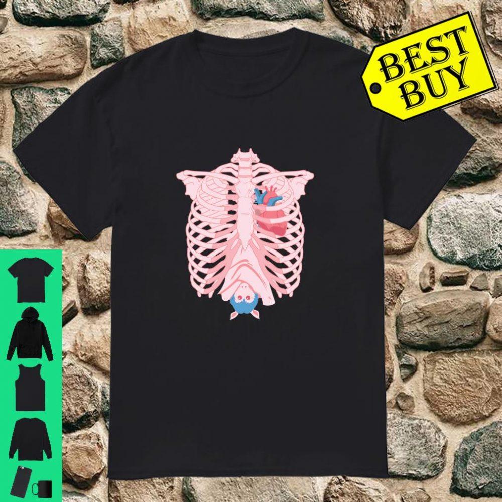 Skeleton Rib Cage Bat Heart Pastel Goth Creepy Yami Kawaii Shirt