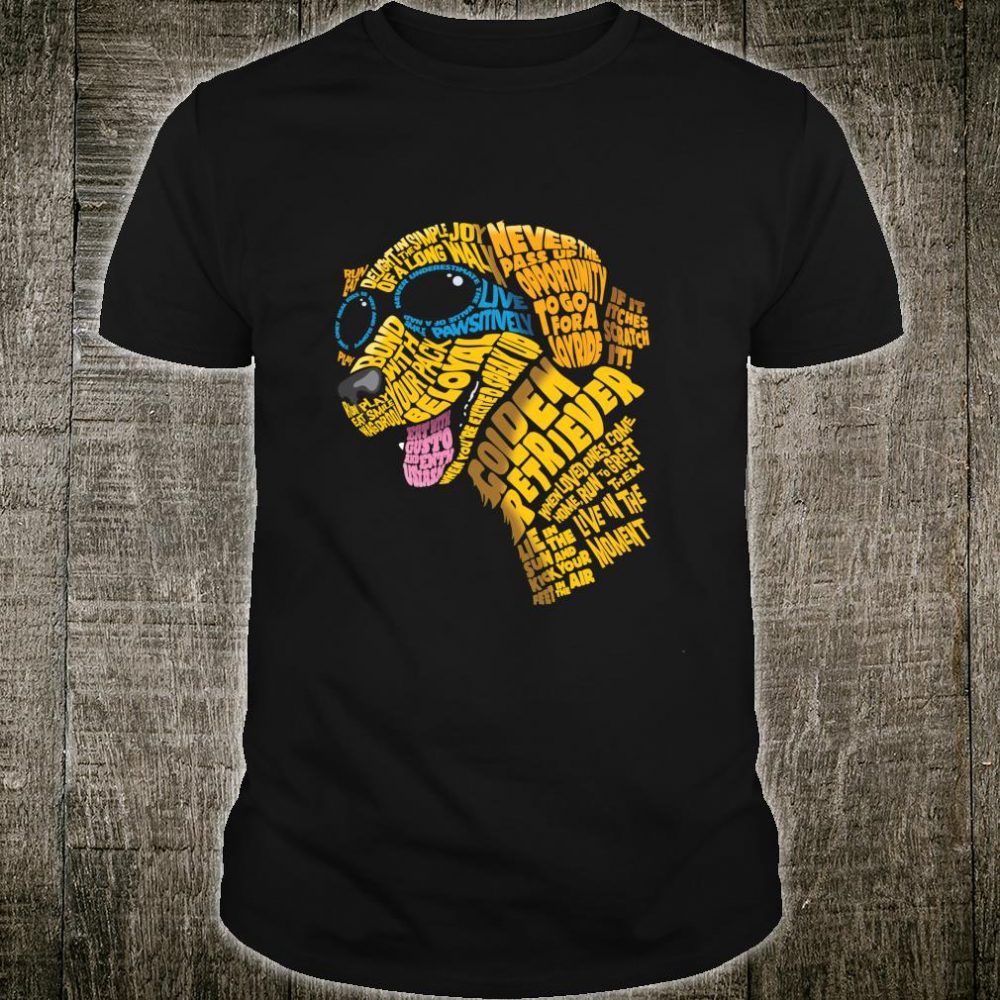 Smiling Golden Retriever wearing dog goggles Shirt