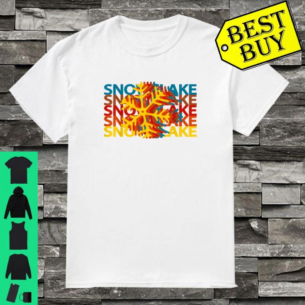 Snowflake Retro Repeat Silhouette Winter Snow Shirt