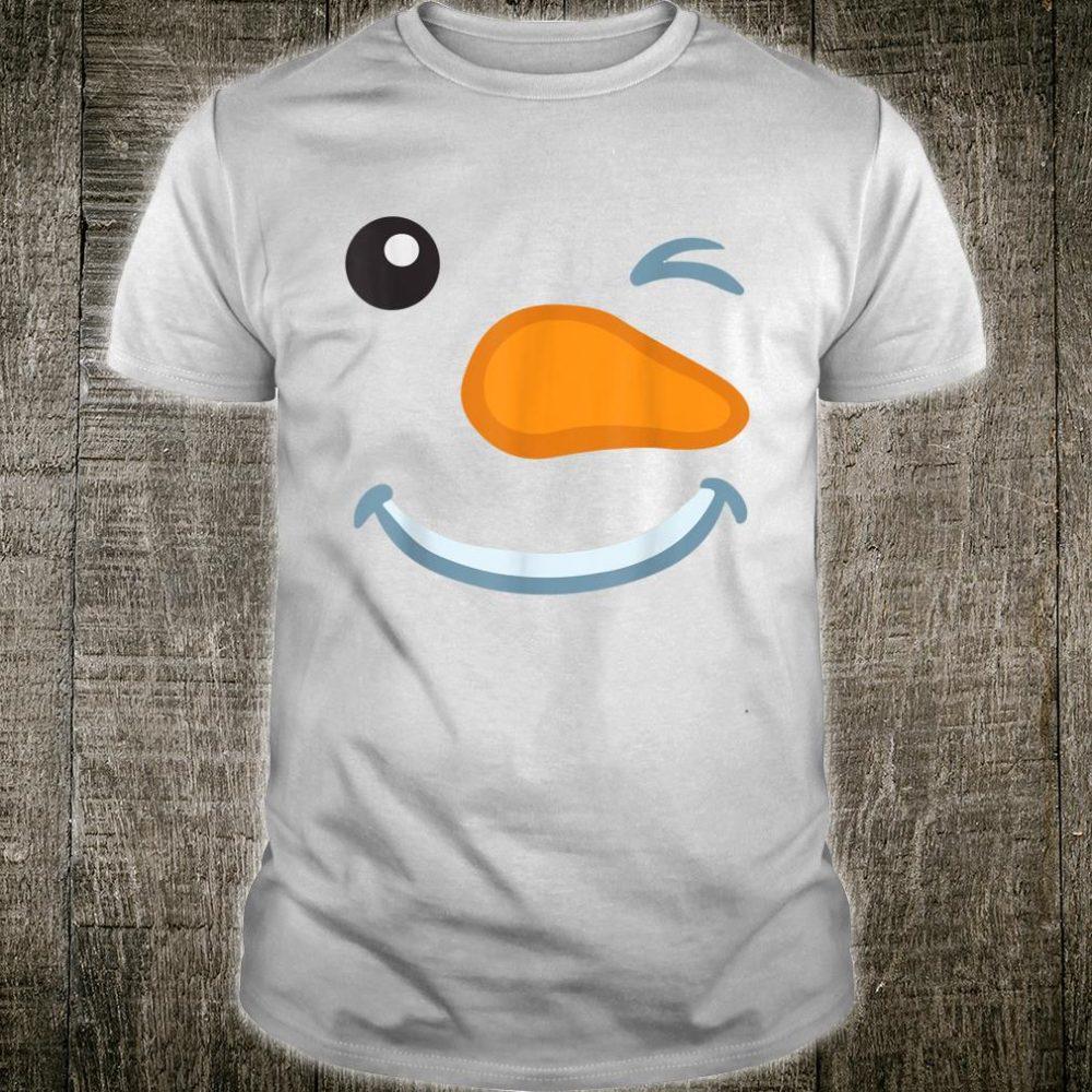 Snowman Face Shirt Christmas Costume Shirt