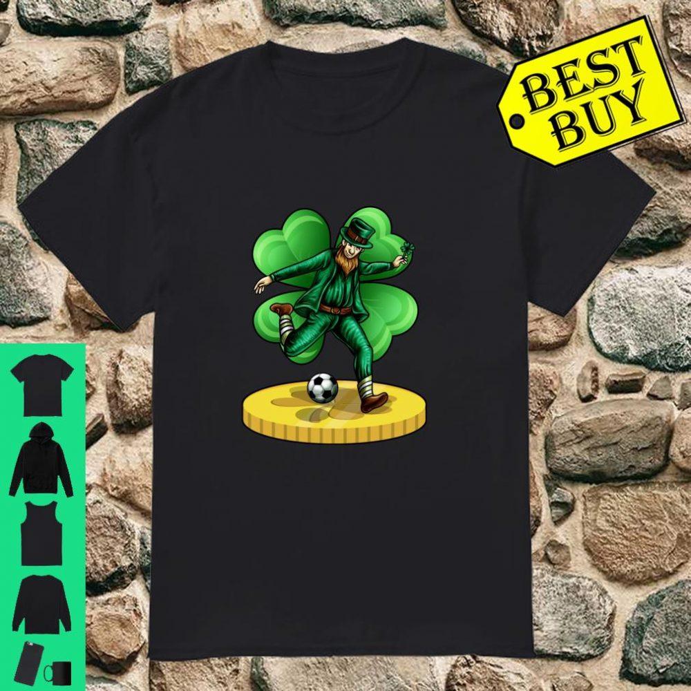 Soccer Leprechaun Irish St Patricks Day Lucky Football Langarm Shirt