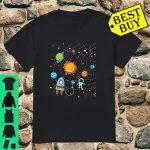 Space Planet Solar System Astronaut Geeks Kid Boys Girl Shirt