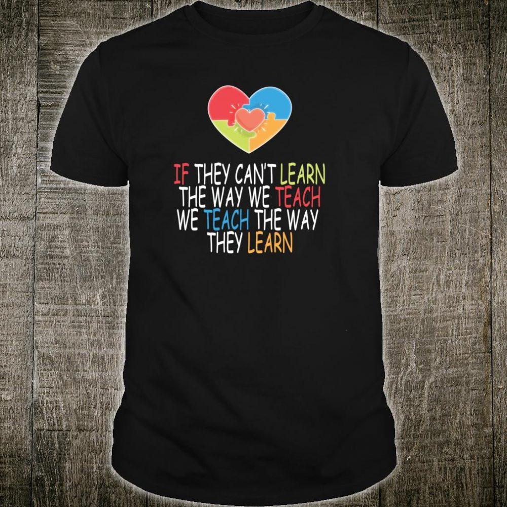 Special Education Teacher Autism Awareness Shirt