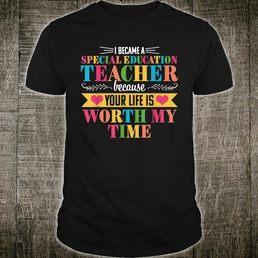 Special Education Teacher SPED Ed Back to School Shirt