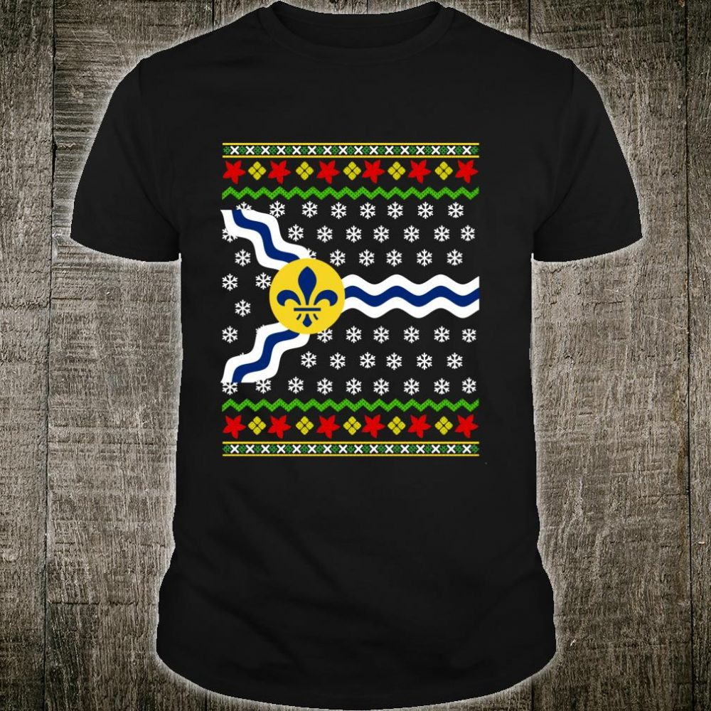 St Louis Flag Missouri Ugly Christmas Pattern Shirt