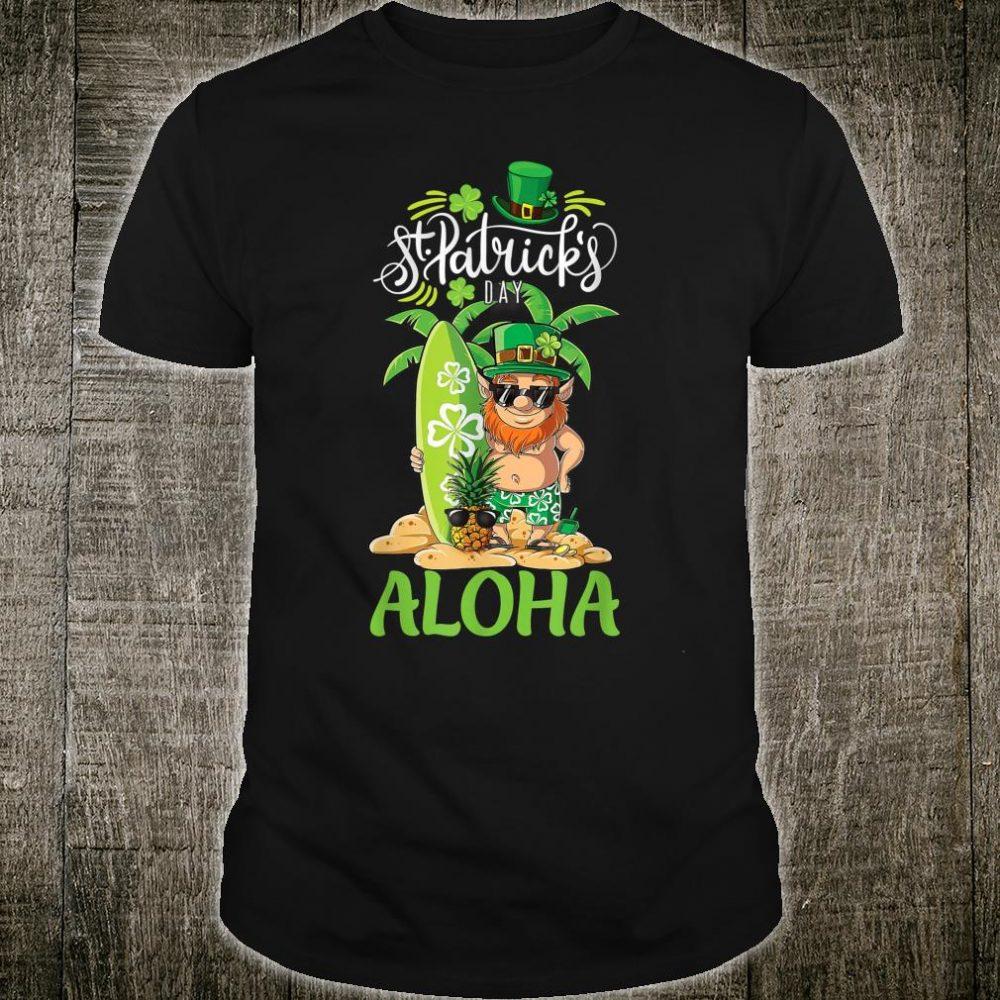 St Patrick's Day Aloha Hawaii Surfing Vacation Shirt