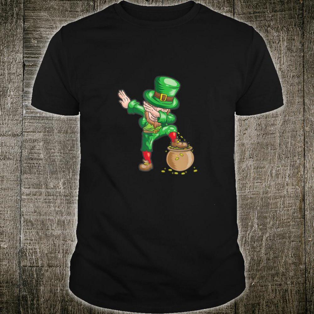 St Patricks Day Dabbing Leprechaun Boys Dab Shirt