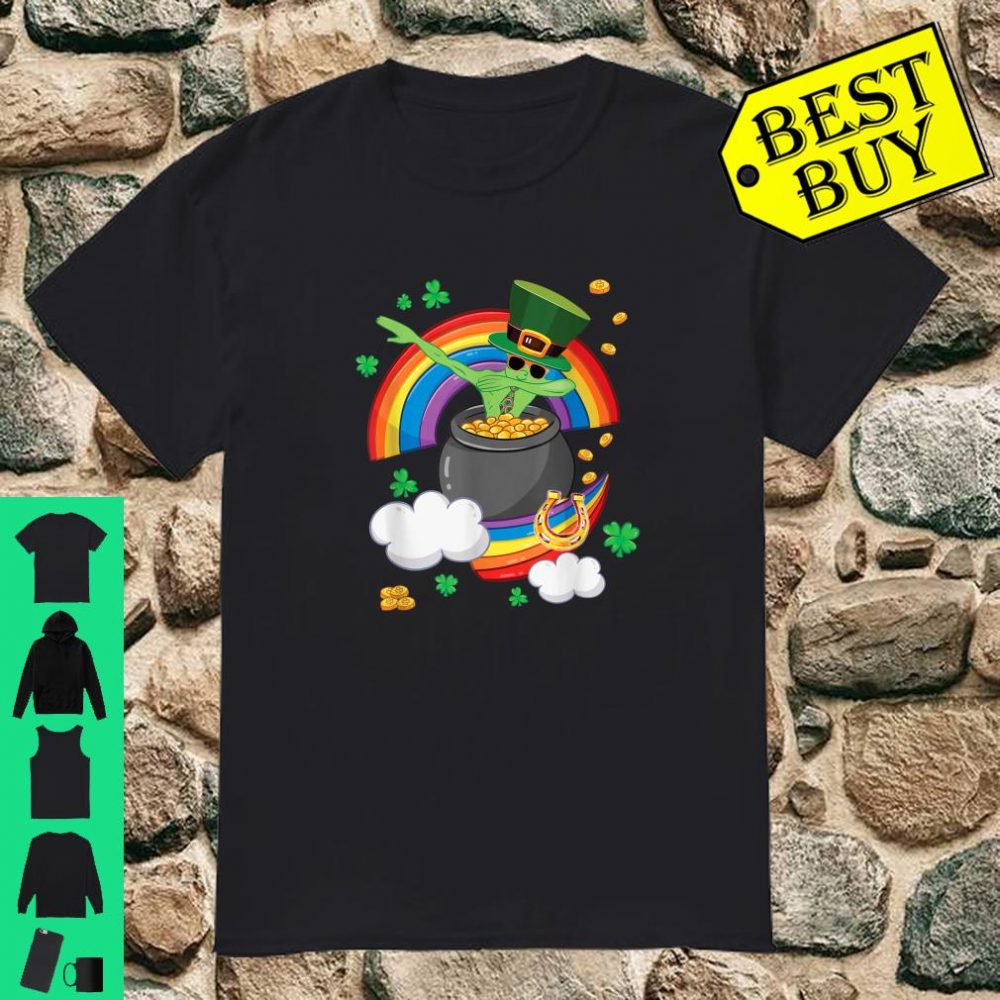 St Patricks Day Dabbing Leprechaun Irish Alien In Paddys Po Shirt