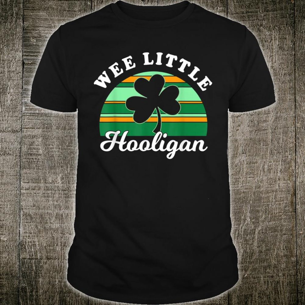 St Patricks Day Wee Little Hooligan Shirt