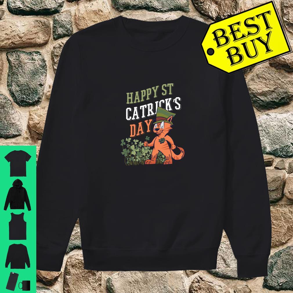 St. Patricks Day Catrick's Cat Shamrock Clover Leprechaun Shirt sweater