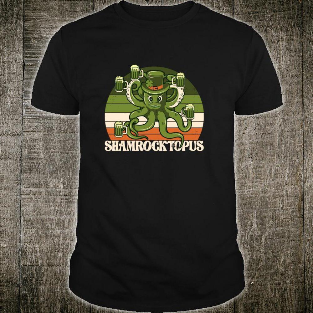 St. Patrick's Day Shamrocktopus Beer Leprechaun Design Shirt
