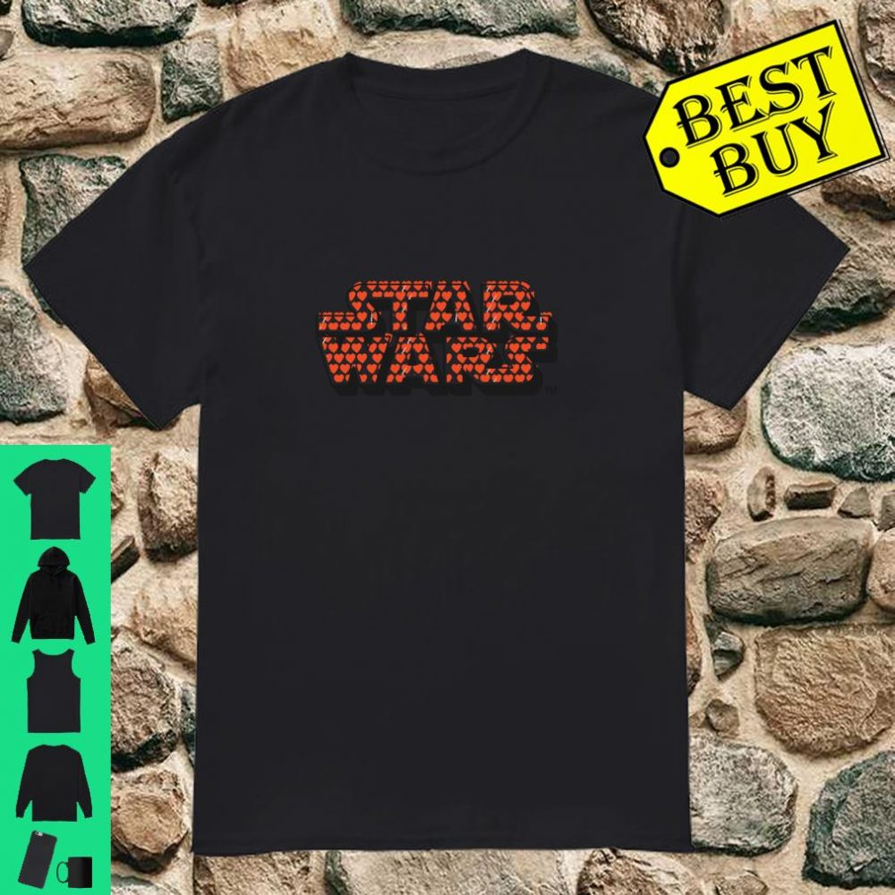 Star Wars Logo with Hearts Valentine's Day shirt