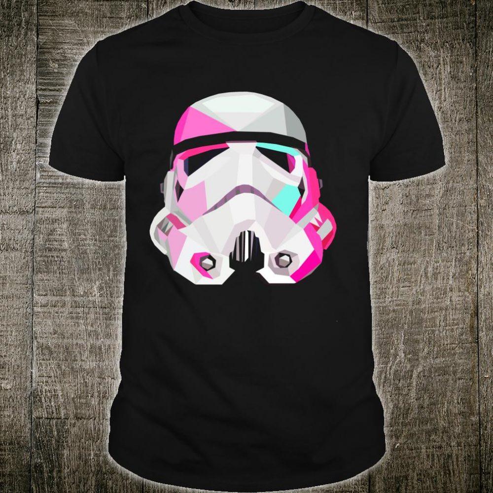 Star Wars Trooper Pink Tones Geometric Helmet Poster Shirt
