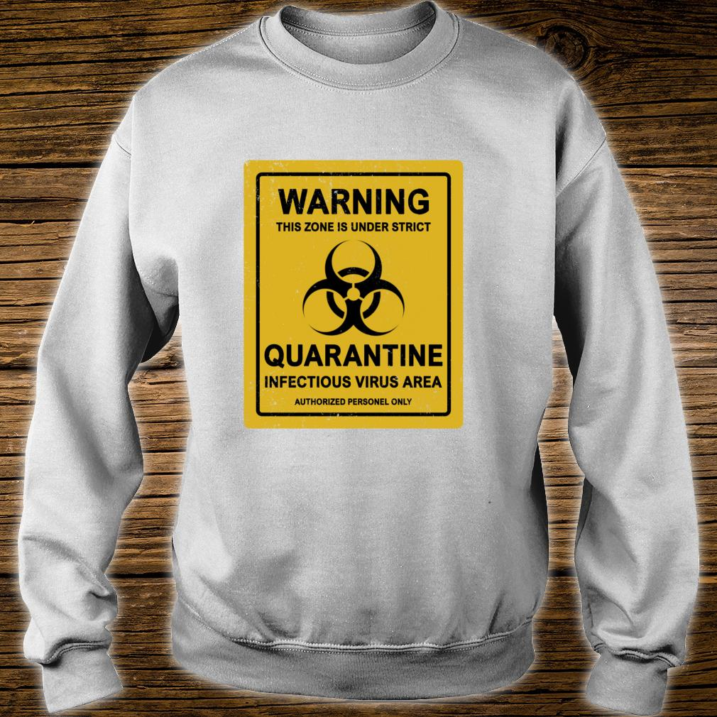 StayAtHome Warning Virus Quarantine Distressed Vintage Sign Shirt sweater