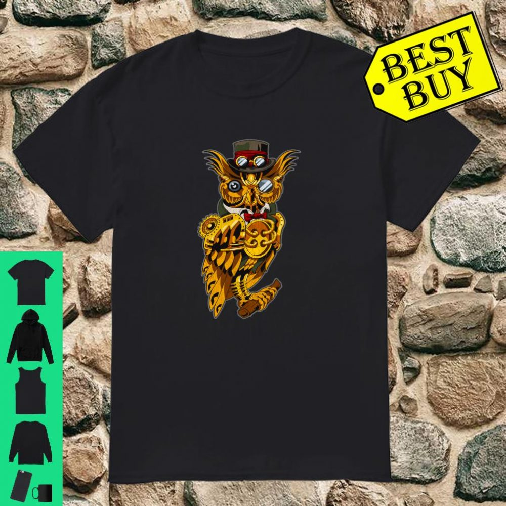 Steampunk Owl Retro Vintage Shirt
