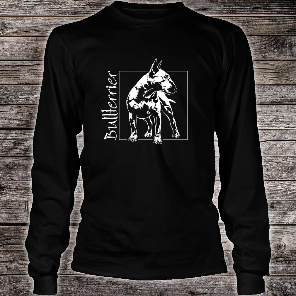 Stolzer Bullterrier Hund Hunde Hundeportrait Shirt long sleeved