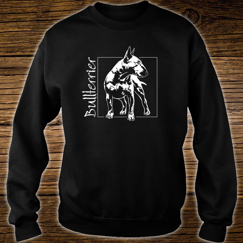 Stolzer Bullterrier Hund Hunde Hundeportrait Shirt sweater