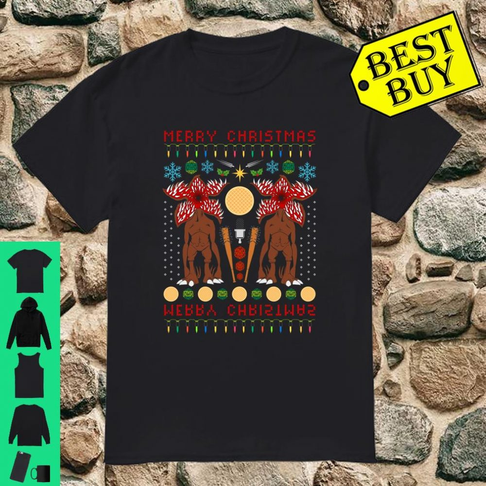 Stranger Things Merry Christmas Demogorgon ugly shirt