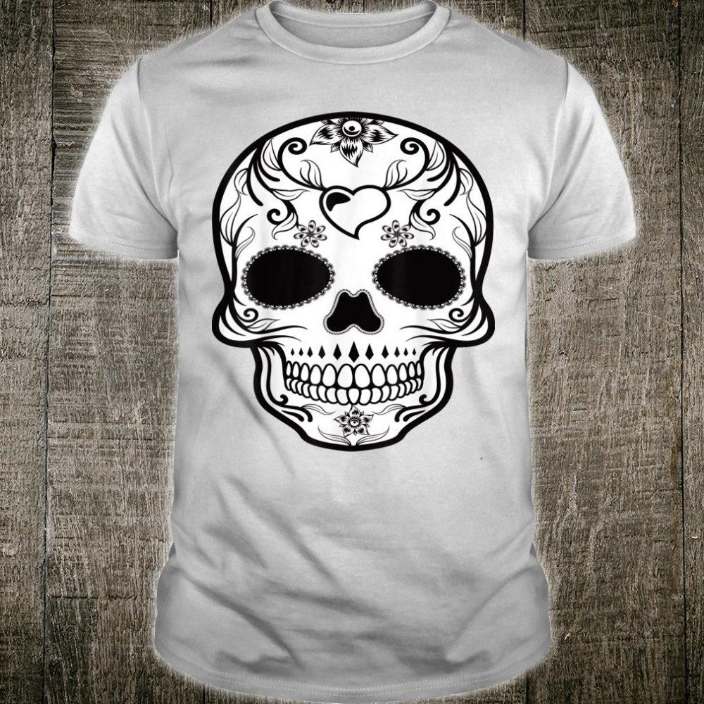 Sugar Skull Print Mexican Holiday Spanish Tradition Flowers Shirt
