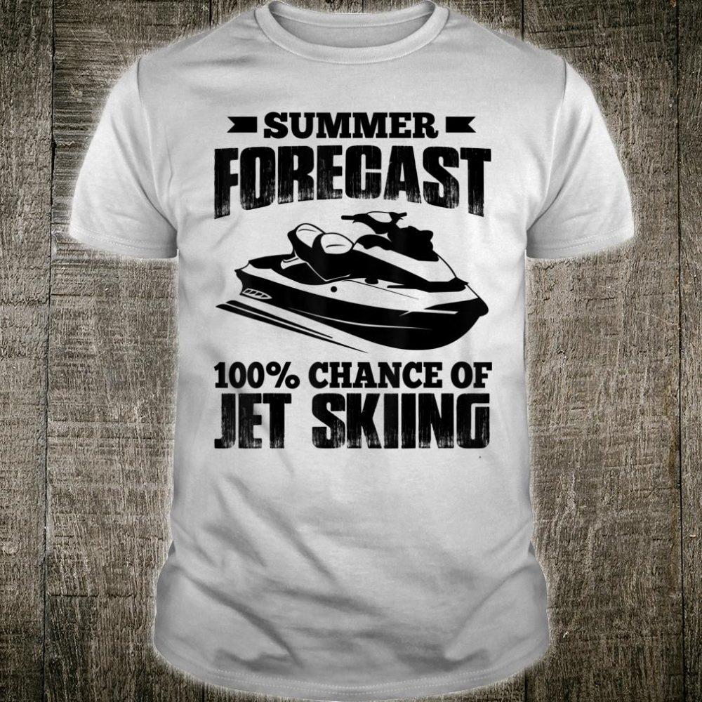 Summer Forecast 100% Chance Of Jet Skiing Shirt