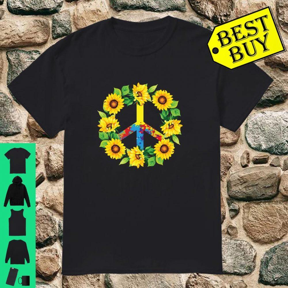 Sunflower Peace Love Hippie Costume 60s 70s 80s Cute Tie Dye Shirt
