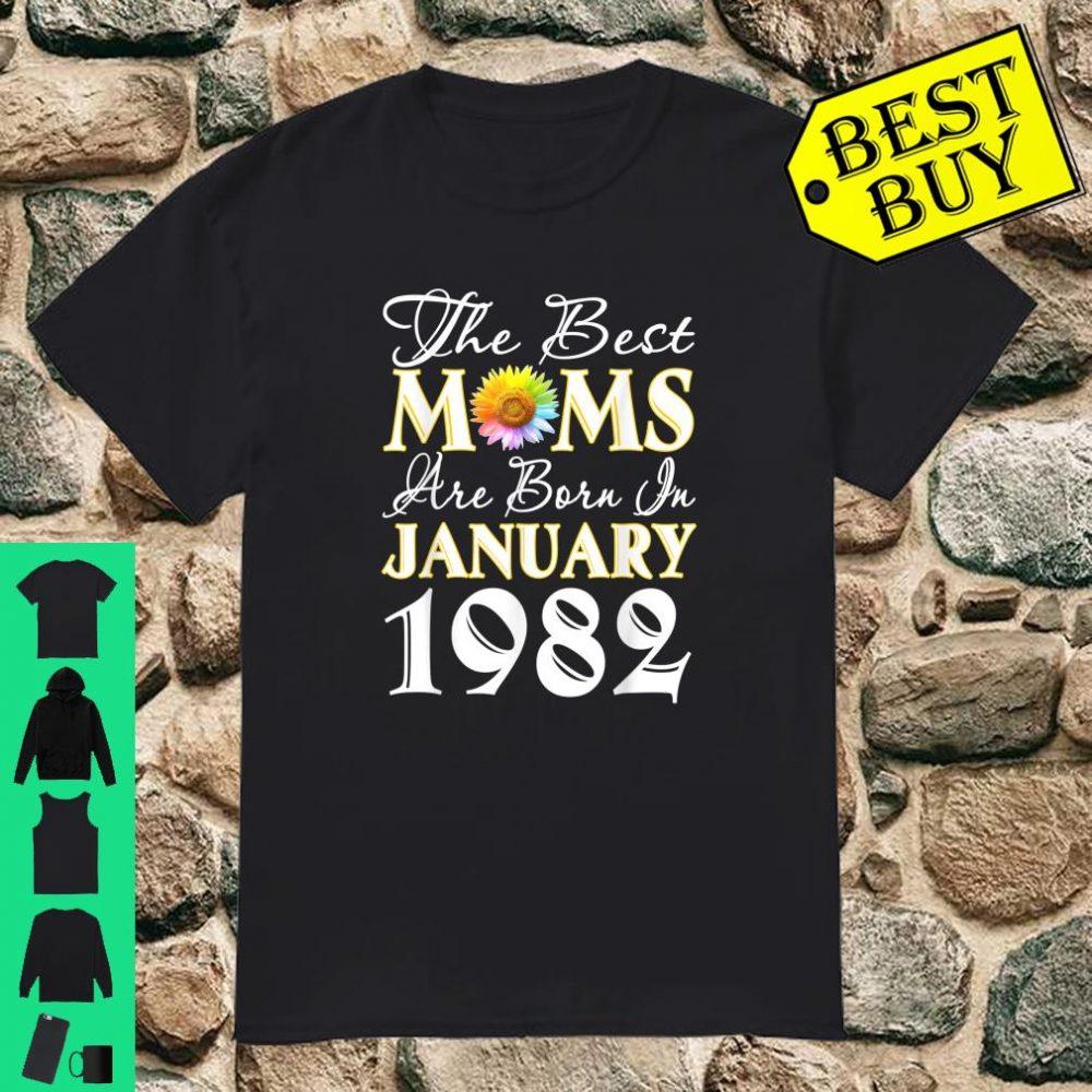 Sunflower best moms january 1982 birthday gift Shirt